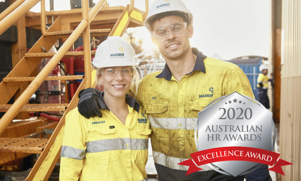 Mader Group win Excellence Award in the 2020 Australian HR Awards image